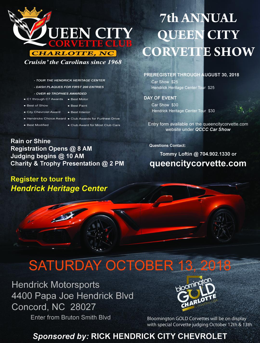 QCCC Car Show - Car show dash plaque display